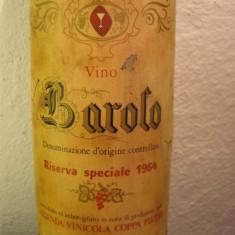 BAROLO, riserva speciale 1964, doc, cl 72, gr 13, 5 recolatare 1964 - Vinde Colectie, Aroma: Sec, Sortiment: Rosu, Zona: Europa