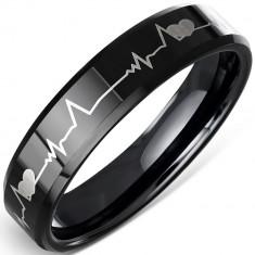 Inel din ceramica neagra, puls