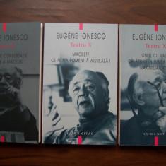 Eugene Ionesco (Ionescu) - Teatru, 3 vol (Humanitas 2008 - 2010) - Carte Teatru