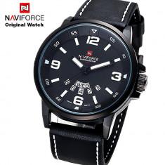 Ceas NAVIFORCE Black Edition Original 100% NOU - Ceas barbatesc Citizen, Casual, Quartz, Otel, Piele, Ziua si data