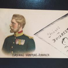 Romania - Familia Regala - Regele Ferdinand - Carte Postala Muntenia 1904-1918, Circulata, Fotografie