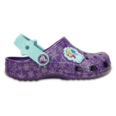 Saboti Crocs Classic Frozen Neon Purple (CRC202356-518) - Papuci copii Crocs, Marime: 21.5, 25.5, 27.5, 29.5, 32.5, 33.5, 34.5, Culoare: Mov
