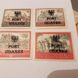 Germania/ocupatii/port gdansk 1945/castele1/ serie MH+, Nestampilat