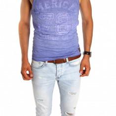 Maieu - maieu barbati - maieu slim fit - maieu fashion - cod 6661, Din imagine, L, M, S, XL