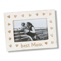 Rama foto din lemn de mango Best Mum 15x21x1 cm