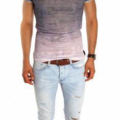 Tricou tip ZARA - tricou barbati - tricou slim fit - tricou fashion - 6654P5, Marime: S, M, Culoare: Din imagine, Maneca scurta
