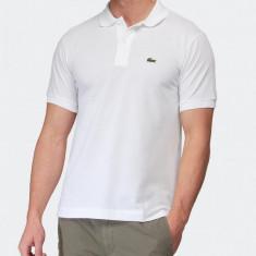 Tricou LACOSTE Polo White XL - Tricou barbati, Culoare: Alb, Maneca scurta, Bumbac