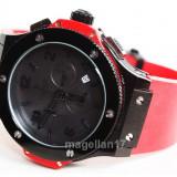 Big Bang All Black Automatic Red Strap ! Cea Mai Buna Calitate ! ! Cutie Cadou ! - Ceas barbatesc, Lux - elegant, Mecanic-Automatic, Inox, Cauciuc, Ziua si data