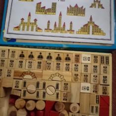 Joc de construit constructie castel castle blocks din lemn pentru copii hobby - Set de constructie, 4-6 ani, Unisex