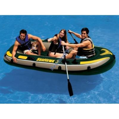 Barca pneumatica gonflabila Seahawk III 3 persoane Intex 68349 foto