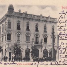 BRAILA, HOTEL SPLENDID, CLASICA CIRC. 1903, ED. LIBRARIA J. GHEORGHIU & CO. - Carte Postala Muntenia pana la 1904, Circulata, Printata