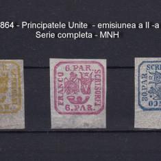 1864 - Principatele Unite - serie completa - MNH - RAR !!! - Timbre Romania, Sarbatori, Nestampilat