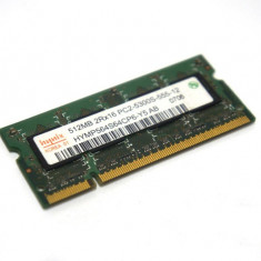 Memorie Laptop 512MB Kingston PC2 4200 DDR2 SODIMM KVR533D2S4/512