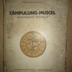 CAMPULUNG MUSCEL de PREOT IOAN RAUTESCU, MONOGRAFIE ISTORICA, CAMPULUNG MUSCEL, 1943 - Carte Editie princeps