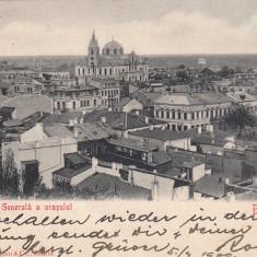 BRAILA, VEDERE GENERALA A ORASULUI, CLASICA, CIRCULATA 1902 - Carte Postala Muntenia pana la 1904, Printata