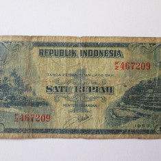 INDONEZIA 1 RUPIAH 1953 - bancnota asia