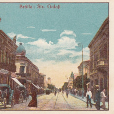 BRAILA STRADA GALATI MAGAZIN COLONIALE TRASURI ANIMATIE - Carte Postala Muntenia 1904-1918, Necirculata, Printata