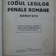 CODUL LEGILOR PENALE ROMANE-MIHAIL I. PAPADOPOLU 1932