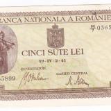 Bancnota 500 lei 2 IV 1941 filigran vertical VF+ (8) - Bancnota romaneasca