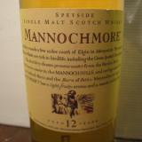 R A R E - whisky Mannochmore. single malt, 12 years, cl 70 gr 43