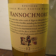 R A R E - whisky Mannochmore. single malt, 12 years, cl 70 gr 43