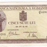 Bancnota 500 lei 2 IV 1941 filigran vertical VF/XF (7) - Bancnota romaneasca
