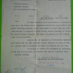 HOPCT ROMANIA CAILE FERATE ROMANE CFR /DIR.PERSONALI 14 NOV 1938 /ARH NEDELESCU - Hartie cu Antet