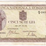 Bancnota 500 lei 2.IV.1941 filigran vertical (7) - Bancnota romaneasca