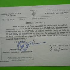 HOPCT ROMANIA MINISTERUL CULTURII NATIONALE SI CULTELOR /POLITEHNICA BUC. 1915 - Hartie cu Antet
