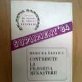 D5 Mircea Eliade - Contributii la filosofia renasterii
