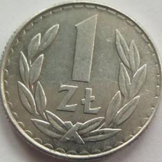 Moneda 1 Zlot - POLONIA, anul 1987 *cod 1647 Allu, Europa, Aluminiu