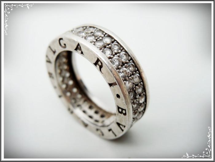 Inel Verighetă De Colecție Argint 925 Cu Rând Dublu De Zirconiu