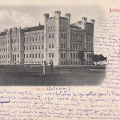 IASI  MOLDOVA  IASSY  CAZARMA  CLASICA  CIRC. 1900 EDITURA F. J. BRUMER  IASI, Circulata, Printata