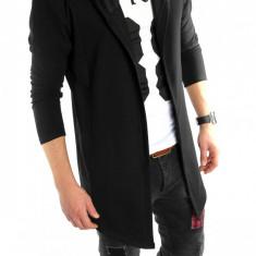 Hanorac fashion negru - hanorac barbati - LICHIDARE DE STOC 6022 D7, L/XL, S/M