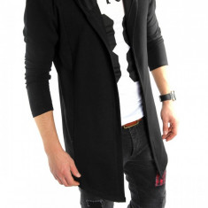 Hanorac fashion negru - hanorac barbati - LICHIDARE DE STOC 6022D1, Marime: S/M, Culoare: Din imagine