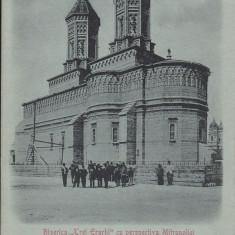 IASI  BISERICA ''TREI IERARHI'' CU PERSPECTIVA  MITROPOLIEI  CLASICA CIRC.  1900, Circulata, Printata