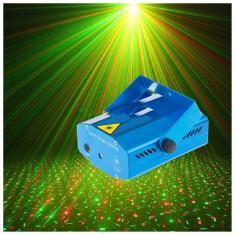 Laser disco, proiector lumini cu senzor de sunet integrat - Laser lumini club