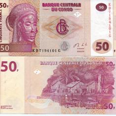 CONGO- 50 FRANCS 2013- P 97- UNC!! - bancnota africa