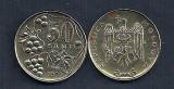 MOLDOVA  50 BANI  1997  [2]   VF  ,   livrare in cartonas, Europa, Fier