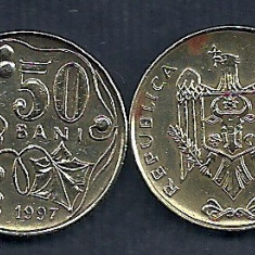 MOLDOVA 50 BANI 1997 [2] VF, livrare in cartonas, Europa, Fier