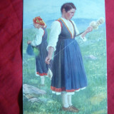 Ilustrata -Femei in costum national Austro-Ungar, inc.sec.XX, color - Carte postala tematica, Necirculata, Printata