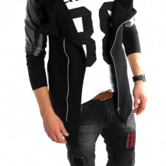 Hanorac fashion negru - hanorac barbati - LICHIDARE DE STOC 6023, Marime: S, M, Culoare: Din imagine