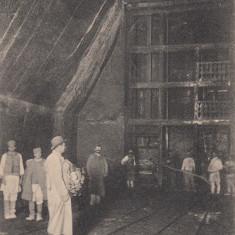 SALUTARI DIN TARGU OCNA, VEDEREA SALINEI IN INTERIOR LA ASCENSOR, CIRC. IUL.'909 - Carte Postala Moldova pana la 1904, Circulata, Printata