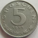 Moneda 5 Groschen - AUSTRIA, anul 1972 *cod 2834 Zinc-a.UNC, Europa