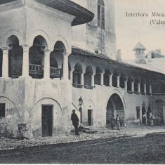 INTERIORU MANASTIREI HOREZ (VALCEA), CIRCULATA ''909 - Carte Postala Oltenia 1904-1918, Horezu, Printata
