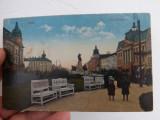 Carte postala din Arad,parcul Kossuth 1917.Circulata si in stare buna.Reducere!, Fotografie