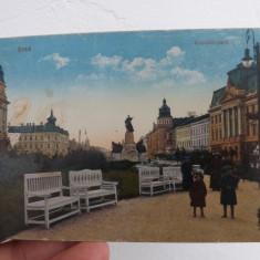 Carte postala din Arad, parcul Kossuth 1917.Circulata si in stare buna.Reducere! - Carte Postala Crisana 1904-1918, Fotografie