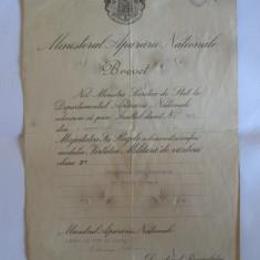 BREVET MIHAI I MEDALIA VIRTUTEA MILITARA DE RAZBOIU CLASA A II-A DIN 1943