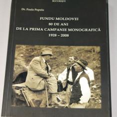 Fundu Moldovei - 80 de ani de la prima campanie monografica - scoala sociologica - Carte Sociologie