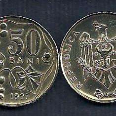 MOLDOVA  50 BANI  1997  [1]   XF+  ,   livrare in cartonas